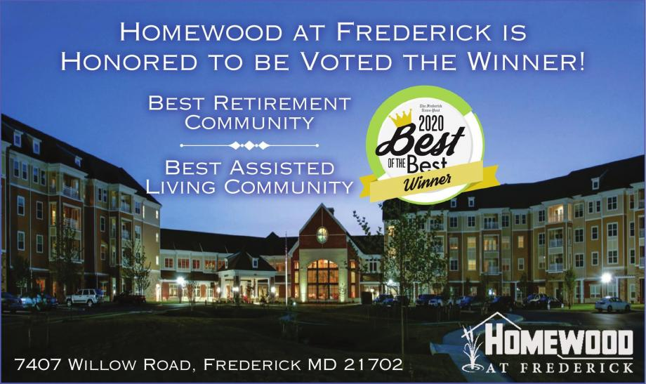 Homewood at Frederick Voted Best of the Best