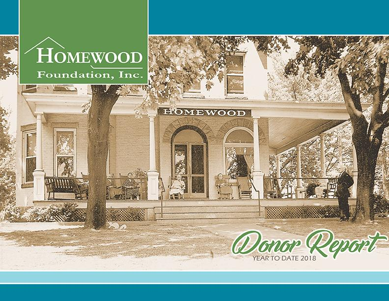 The Homewood Foundation Yearly Donor Report
