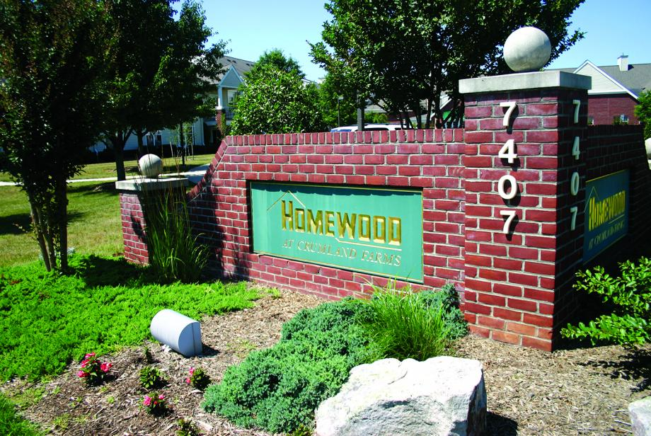 Homewood at Crumland Farms Sign