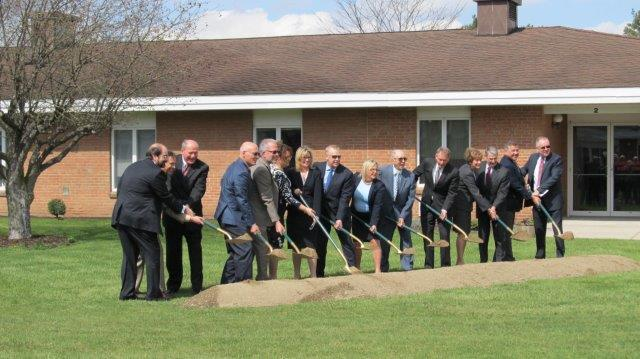 Ground breaking ceremony for the new assisted living at Spring House Estates