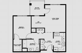 One Bedroom w/ Den Apartment - 721 Square Feet